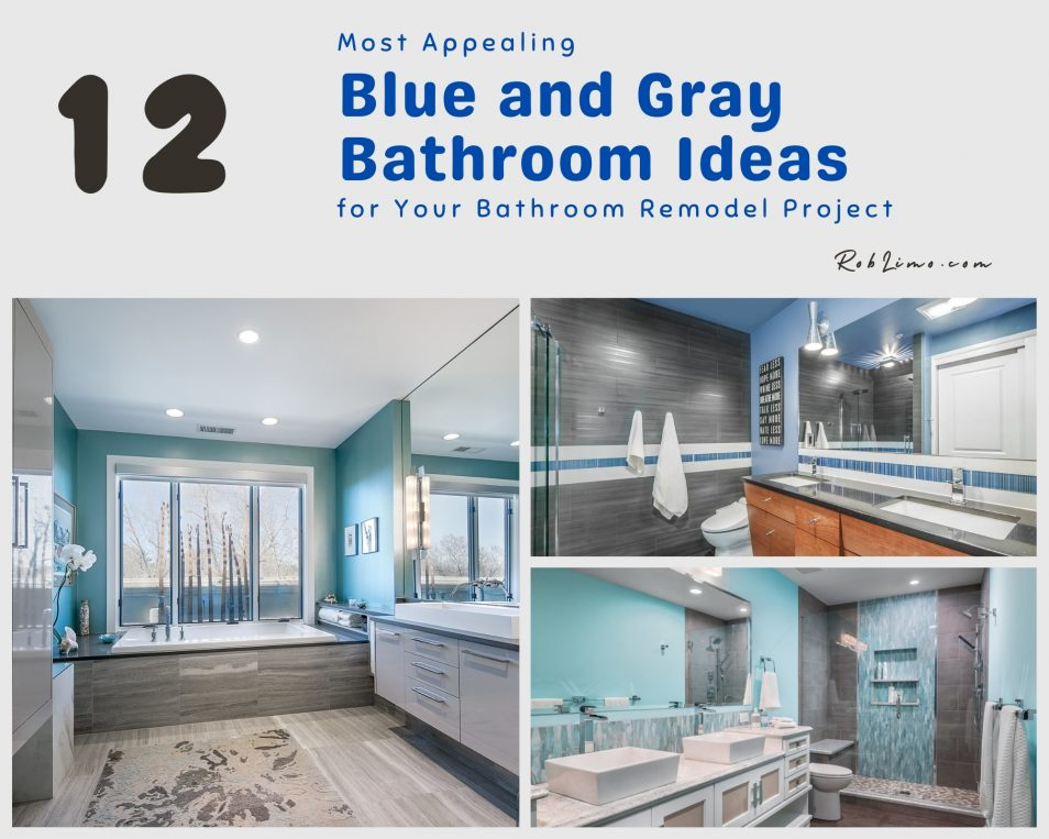 12 Most Appealing Blue And Gray Bathroom Ideas