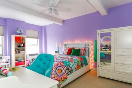 heather plum walls could benefit from teal accents