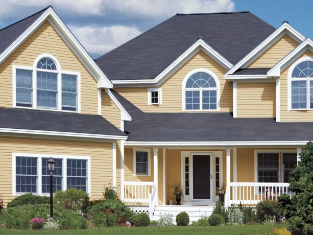 installing vinyl siding that creates an extreme contrast is one of the most brilliant ideas, too