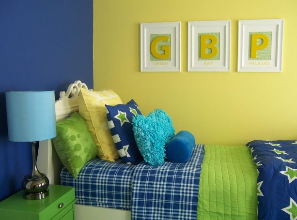 it turns out that green does suit a traditional bedroom with combo of blue and yellow