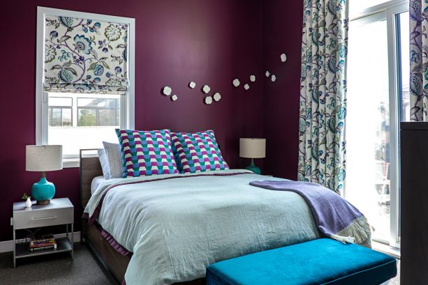 sangria walls and teal accents awesome