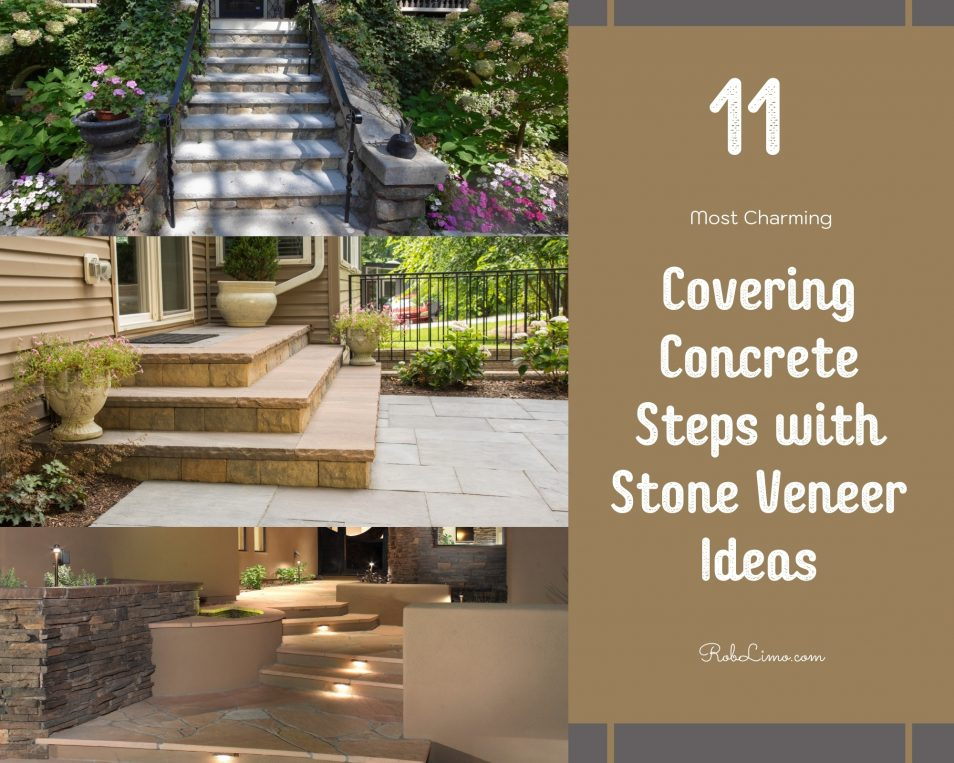 11 Most Charming Covering Concrete Steps With Stone Veneer Ideas